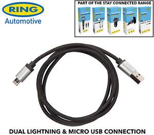 Ring-R2IN1C-2-IN-1-Gewebt-Ladekabel-Ligthning-Apple-Micro-USB-Samsung-Usw-1m