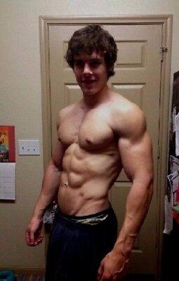 Shirtless Male Jock Muscular Beefcake Athlete Frat College Hunk PHOTO 4X6 G960