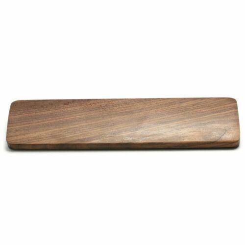 Polished Surface Non Slip Keyboard Wrist Rest Pad Ergonomic Office Walnut Wood