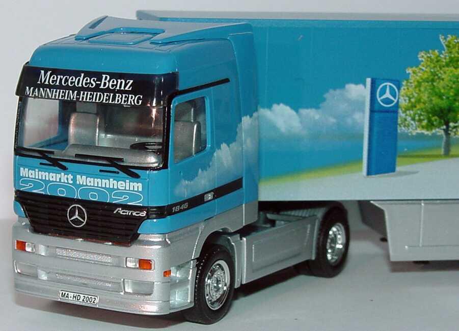 1 87 Mercedes-Benz Actros LH Safeliner-Sattelzug Maimarkt Mannheim 2002 - - - herpa e6612d