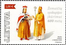 2017 Lituania singolo congiunto con Vaticano MNH**