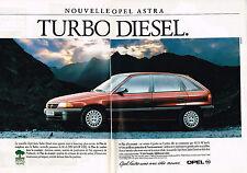 PUBLICITE ADVERTISING 025  1992  OPEL ASTRA  turbo diesel ( 2p)