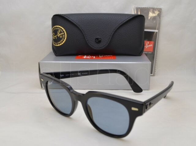 0cef7e93ce Ray Ban Meteor Rb2168 2168 901 52 Black Square RAYBAN Polarized Sunglasses  54mm