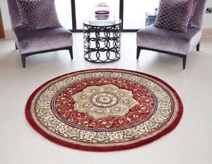 Image Is Loading Circular Circle Round Traditional Clic Prestige Rug 150x150cm