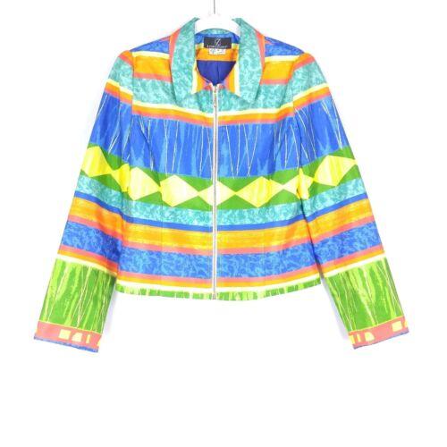 Vintage Lori Zoni Women Silk Jacket Small Cropped