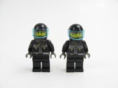 2x LEGO Pilot Minifigure Stuntmen w//Black Helmet Studios 1376 1371 1349