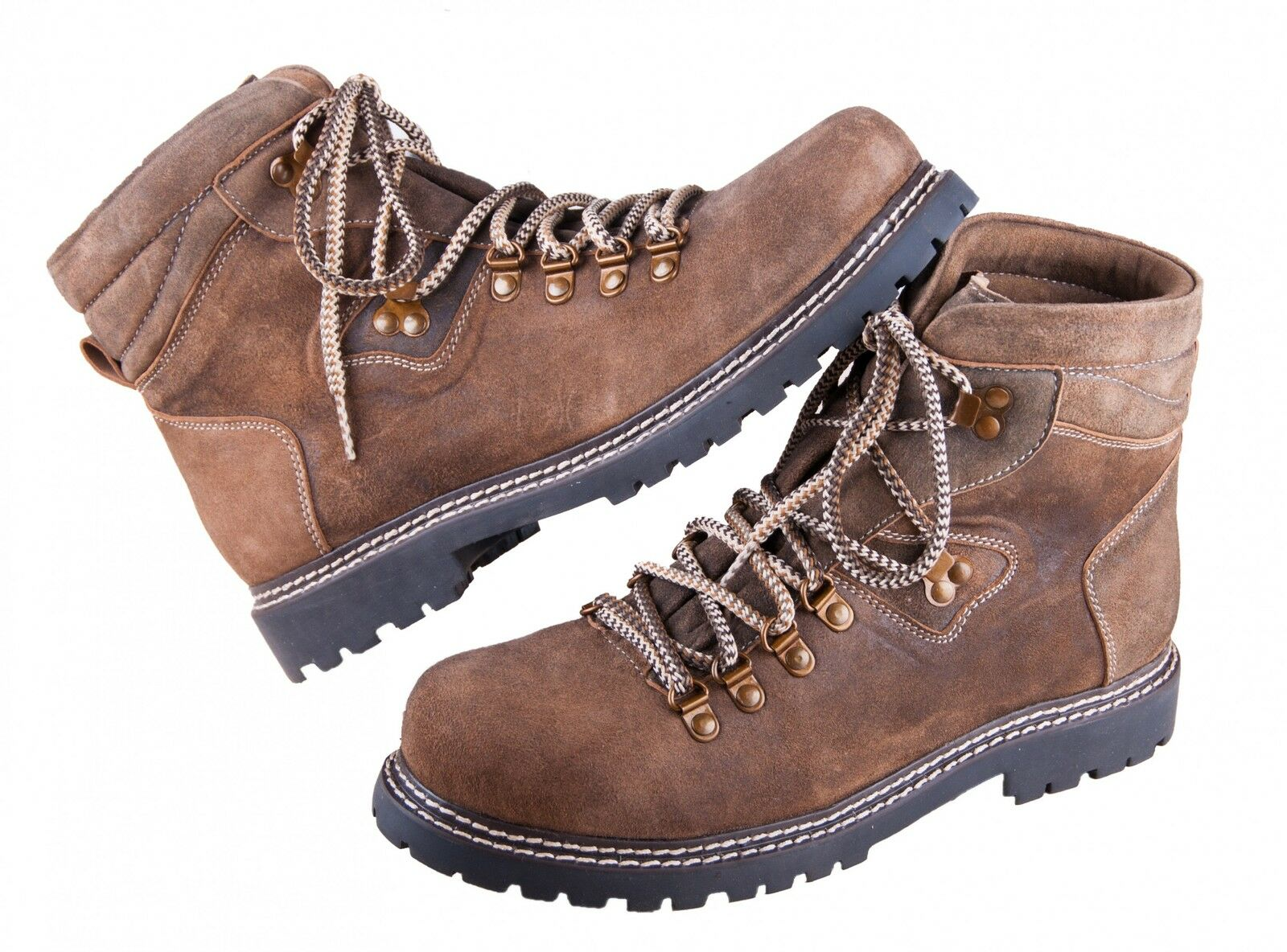 Scarpe casual da uomo  Almwerk Uomo Trachten montagna escursioni a piedi scarpa 102 Nuovo In Marrone/Oliva