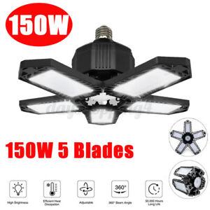 150W LED Garage Lights 10000LM Deformable Ceiling Fixture Lights Workshop  A