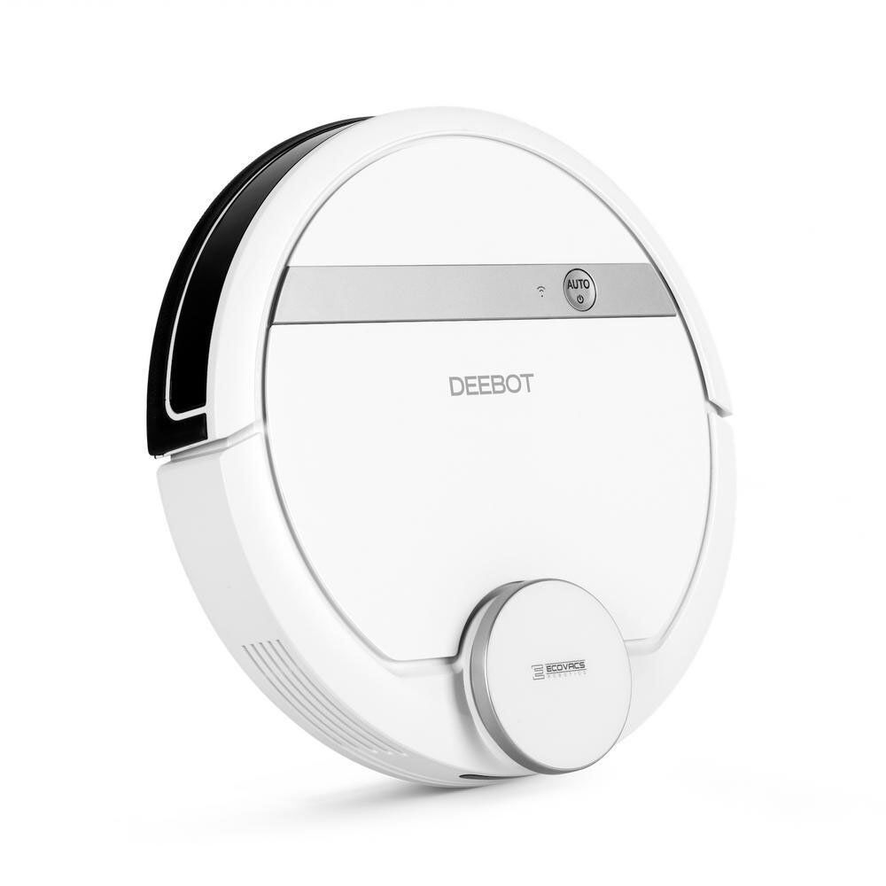 Ecovacs DEEBOT 900 Robotic Smart Vacuum Cleaner for Bare Floors & Carpet, White