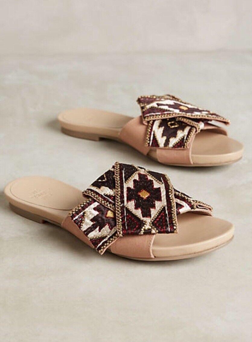 NEW Anthropologie Knotted Slide Sandals Size 37 Ne Quittez Pas