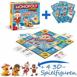 Monopoly-Junior-Our-Sandman-4-Extra-Play-Figures-Pittiplatsch-Moppi-New