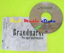 CD Singolo ANGELO BRANDUARDI Per ogni matematico PROMO EMI 1998  mc dvd (S10)