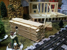 MINIATURE LUMBER PILE  for Model Railroad Layouts, Doll House & Diorama Scenes