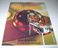 TRI ZONE By WILLIAMS 1979 ORIGINAL SS PINBALL MACHINE SALES FLYER BROCHURE