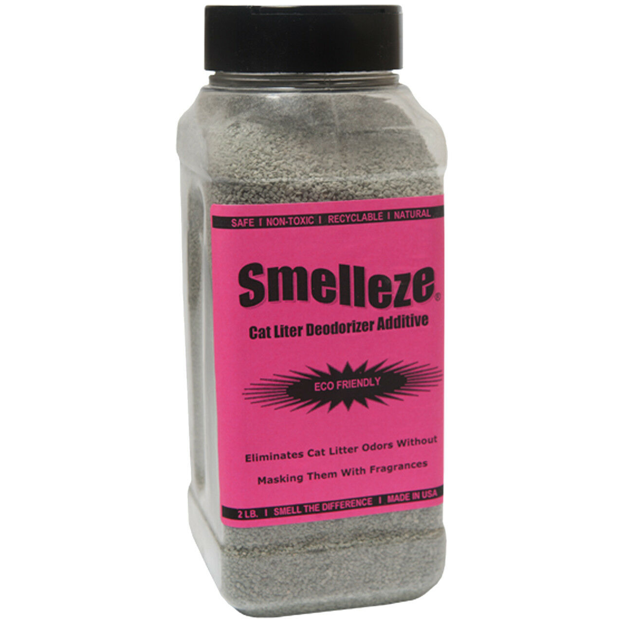 SMELLEZE Eco Cat Litter Odor Removal Additive  50 lb Gran. Get Stench Out Safely
