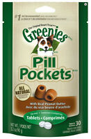 Greenies Pill Pockets For Dogs 3.2oz Tablet Peanut Butter Flavored