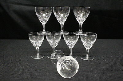 "Set of 8 Josair Josephine DORETTE Cut Crystal 3.25"" Cordial Glasses, Germany"
