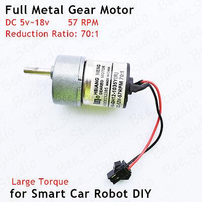 DC 6v 12v 36RPM Slow Speed Mini Full Metal Gear Motor Permanent magnet DIY Robot
