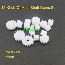 15 Kinds Of Main Shaft Gear Set Four-wheel Drive Motor Gear Plastic Worm Science