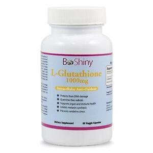 BeShiny L-Glutathione Skin Whitening pills 1000mg Supplement Antioxidant Anti