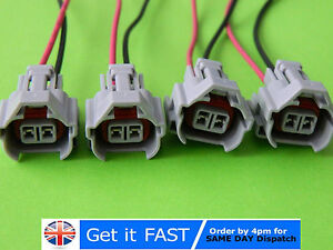 4x-Pre-Wired-For-Nippon-Denso-High-Slot-Socket-Fuel-Injector-Plug-Connector