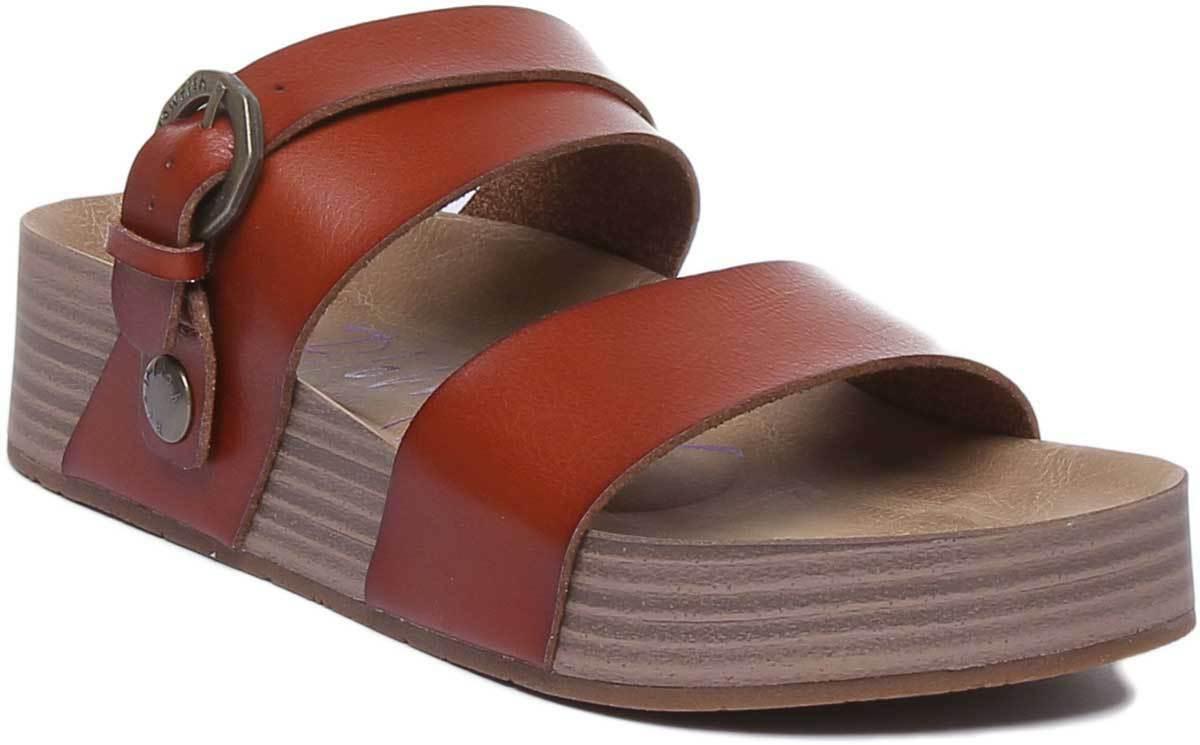 Blowfish Marge damen Two Straps Footbed Vegan Sandals In Tan Größe UK 3 - 8