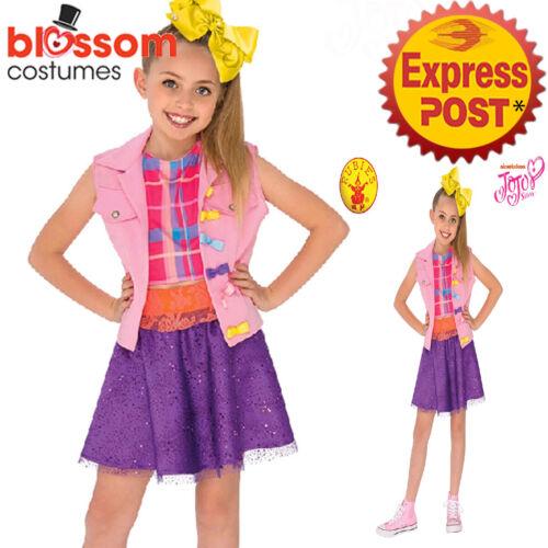 CK1208 Licensed Jojo Siwa Boomerang Music Video Girls Dance Fancy Dress Costume