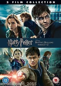harry potter and the deathly hallows part 1 and 2 dvd year 7 8 new
