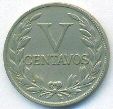 COLOMBIA COIN 5 CENTAVOS 1938 COPPER-NICKEL KM#199 VF+