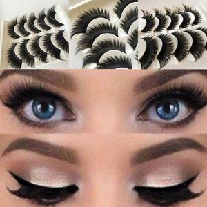 1c813098470 5 Pairs Natural False Eyelashes Extra Long Thick Handmade Fake Eye ...