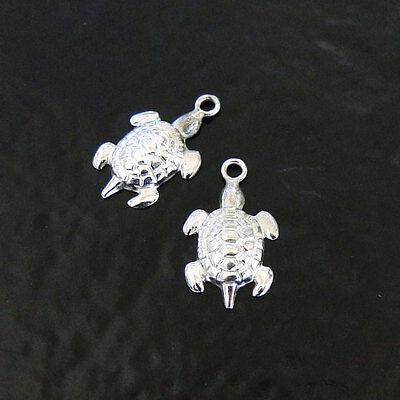 Charm Sterling Silver CRAB ON THE SAND DOLLAR Pendant Made in USA