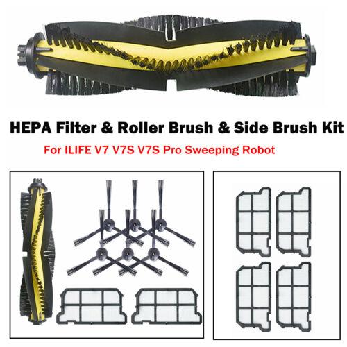 Für ILIFE V7 V7S V7S Pro Kehrroboter HEPA Filterrollenbürste Seitenbürstensatz