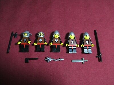 LEGO Minifigures Lot 7 Lion Knights Castle Swords Lego Guys Minifig Toys Weapons