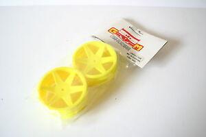 GM-Racing-Yellow-Front-Wheels-For-Schumacher-CAT-2000-amp-3000-14mm-Hex-GM6817GE