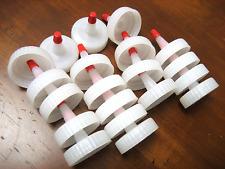 20 x Funnel (Cap) for Laser Printer Toner Cartridge Refill, Refilling (Red tip)