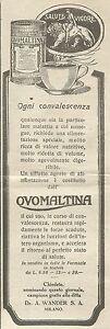 W6298 Ovomaltina ogni convalescenza - Pubblicità 1926 - Advertising