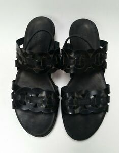 269423a06c1 Image is loading Munro-American-Shoes-Sandals-Walking-Wedge-Black-Womens-