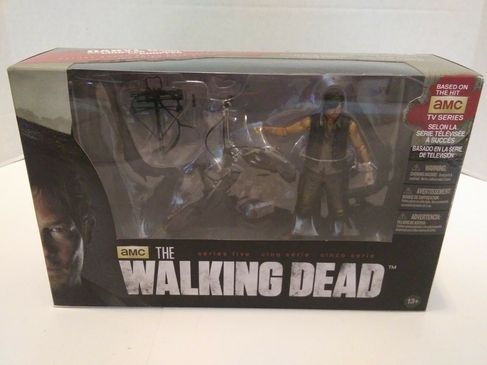 McFarlane Toys 6  Daryl Dixon and motorcycle NEW