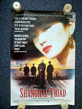 SHANGHAI TRIAD Original 1990s Martial Arts OS Movie Poster Yimou Zhang, Li Gong