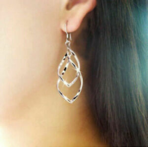 2-Elegant-Lady-Spiral-Twisted-Silver-Plated-Dangle-Drop-Party-Earrings-for-Women