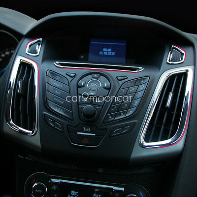 ABS Chrome Trim Interior Outlet Decoration Ring Fit For Ford Focus 3 MK3