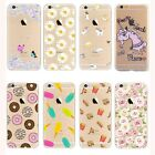 Ultra Thin Crystal Clear Pattern Soft TPU Case Cover For iPhone 5/6/7/7 Plus