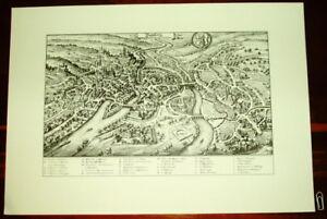 Bamberg-alte-Ansicht-Merian-Druck-Stich-1650-Bayern-Franken-Staedteansicht-Bayern