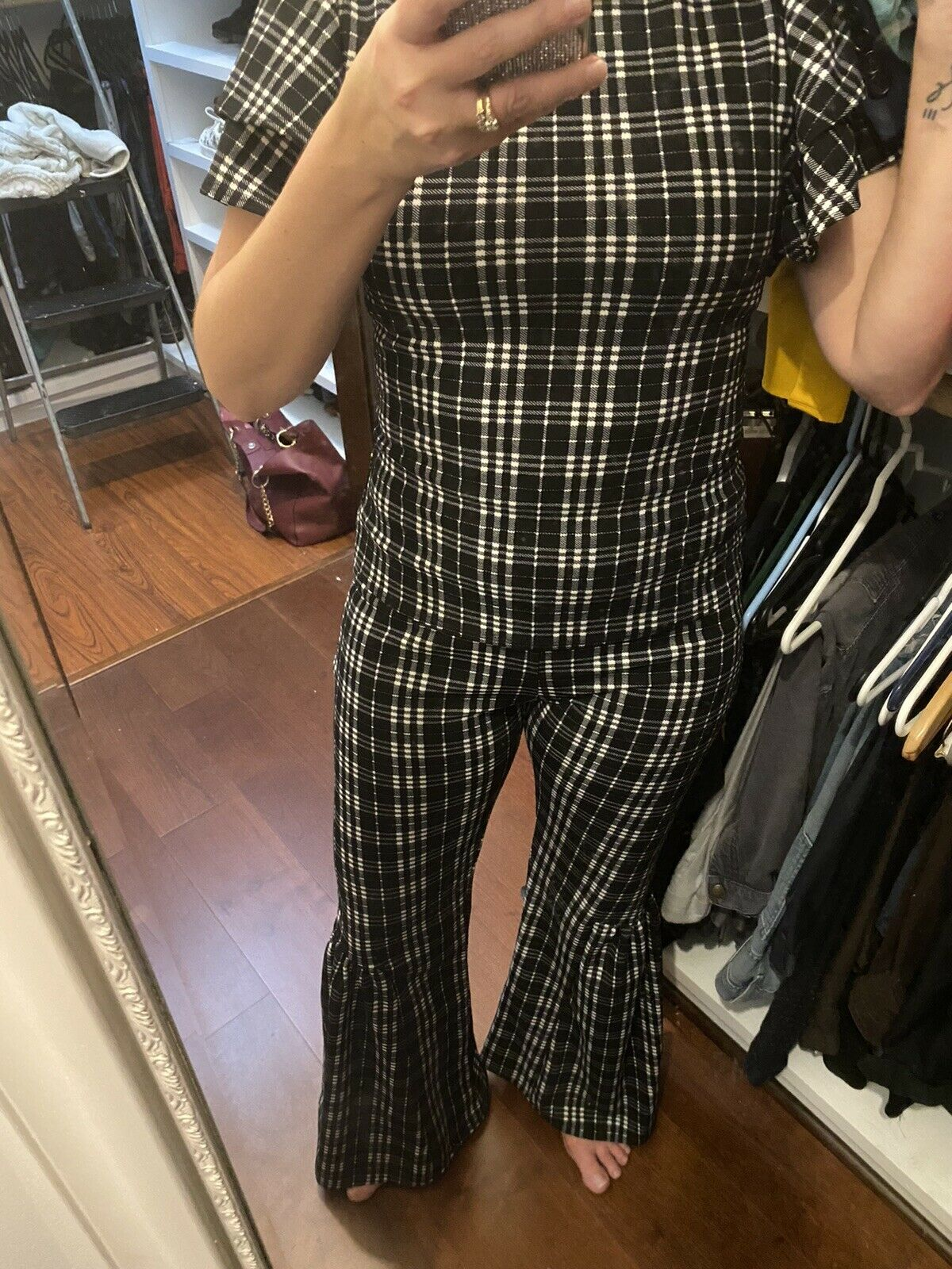Vamp Pant Suit Two Piece Bell Bottoms - image 11