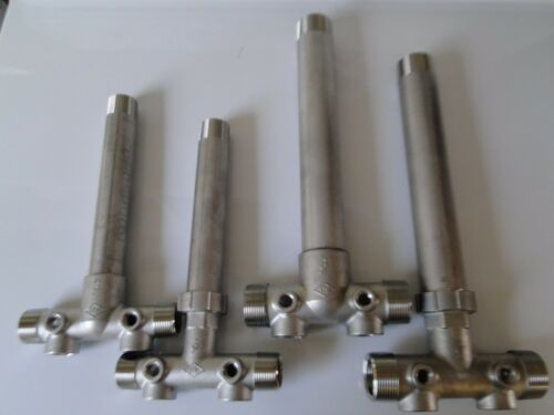 """STAINLESS STEEL PRESSURE TANK TEE 1 1//4/"""" 1.25/"""" x 14/""""  1 x 11/"""" UNION WATER WELL"""