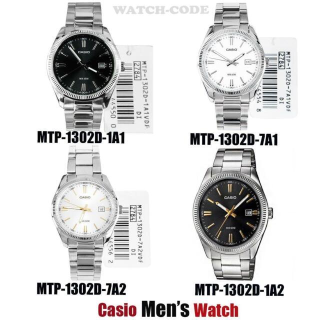 Casio Mens WR50M Watches MTP-1302D-1A1 MTP-1302D-7A1 MTP-1302D-7A2 MTP-1302D-1A2
