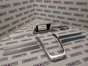 Audi-A4-B8-Decoration-Interieur-Bord-Rayures-Aluminum-Panneau-Console-Centrale