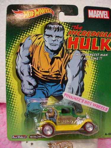 2014 Marvel Hot Wheels A-Ok  Grün//Gelb ∞ der Unglaubliche Hulk ∞ Pop Kultur