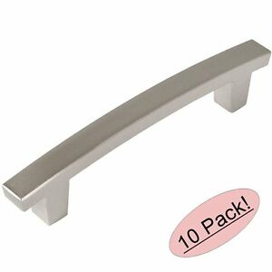 Image Is Loading 10 Pack Cosmas Cabinet Hardware Satin Nickel Contemporary