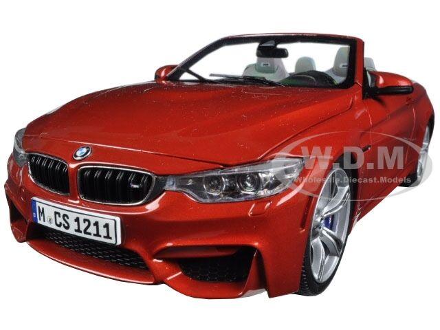 BMW M4 cabrio naranja 1   18 fundición PARAGON 97111